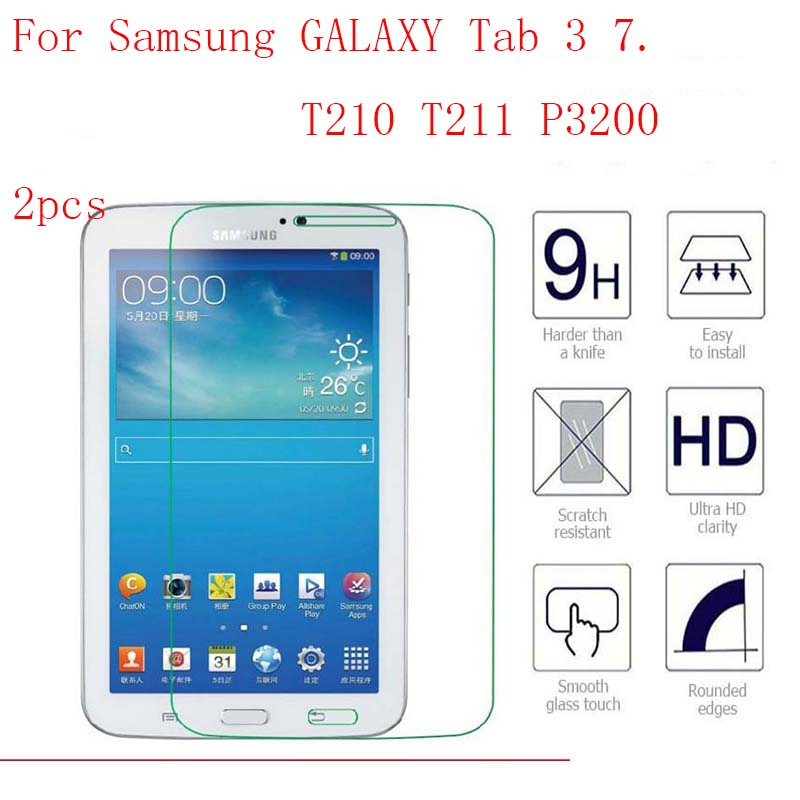 Tempered Glass Membrane For Samsung Galaxy Tab 3 7.0 T210 T211 P3200 Steel Film Tablet Screen Protect Tab3 Sm-t210 T211 7 Case Tablet Accessories Computer & Office