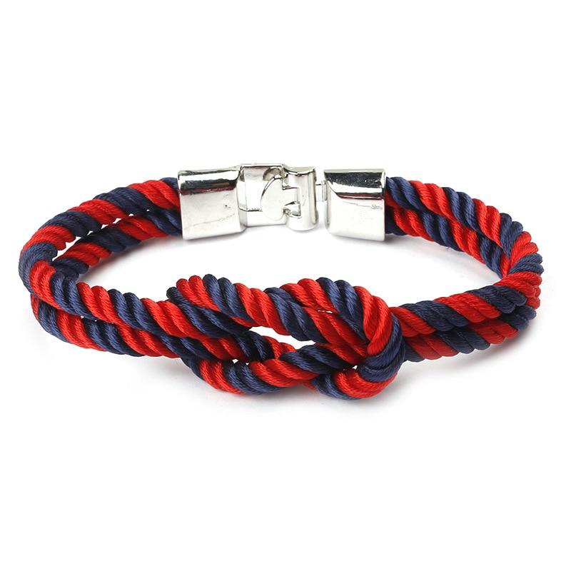 Silver Pulseira Masculina Braided Rope Homme Bracelets Men Charm Chain Paracord Bracelet Jewelry Wrap Outdoor Sport Bracelet