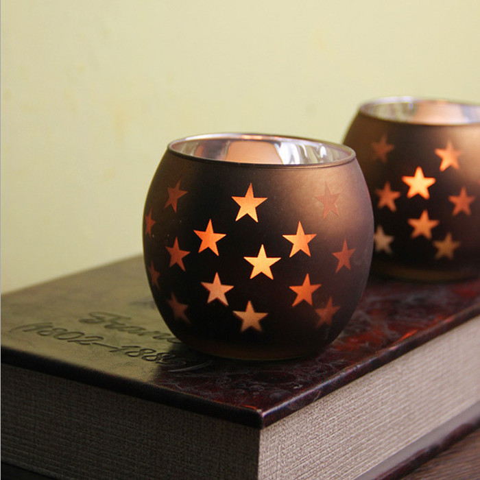 Hot Sale Wholesale Star Glass Candlestick Weeding Home Decor Hang Candle Holders Romantic Dinner China