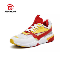 ALDOMOUR 2018 Sport Shoes Men Sneakers Breathable Zapatillas Hombre Deportiva Running Relaxed Comfortable Big Size 38 48 WLS
