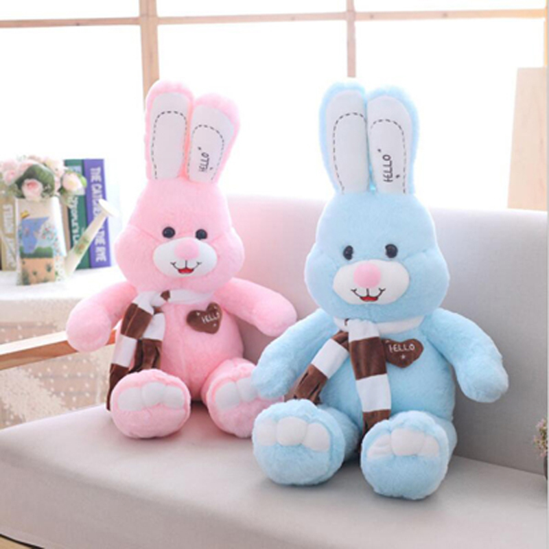 New Style Smile Long Ear Rabbit Plush Toy Stuffed Animal Plush Doll Best Gift Send to Children Girlfriend in Stuffed Plush Animals from Toys Hobbies