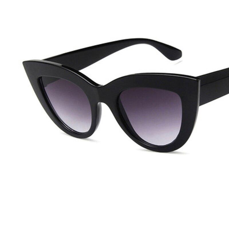6e04771ff New Cat Eye Mulheres Óculos Escuros Homens Do Vintage Em Forma de Cor Da Lente  Óculos de Sol Feminino Óculos Preto Óculos De Sol Da Marca Designer em  Óculos ...