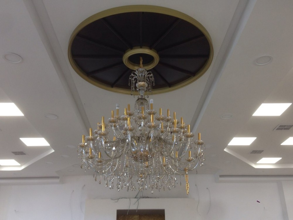 Big 45-arm high ceiling chandelier crystal droplight Hotel - Indoor Lighting - Photo 5