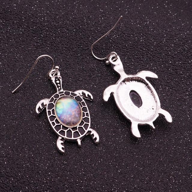Women's Sea Shell Turtle Drop Earrings 4