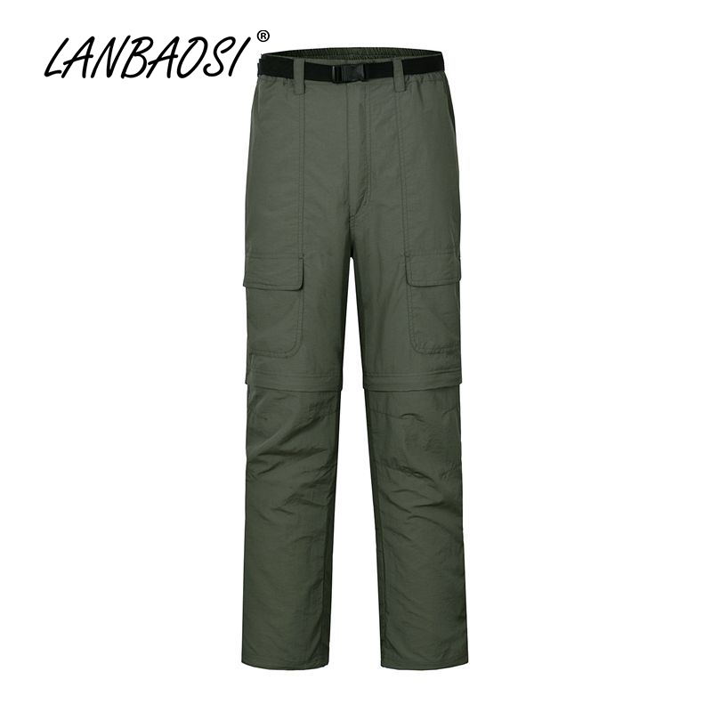 LANBAOSI Outdoor Sports Mäns Qucik Dry Hiking Pants Tactical - Sportkläder och accessoarer