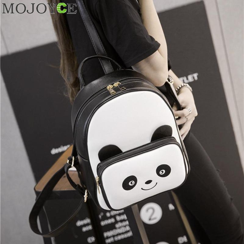 New Women Backpacks Lovely Panda Mini Girl Bags