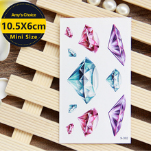 Big Color Clear Beauty Red Bloody Diamond Tattoo Body Art Beauty Makeup Waterproof Temporary Tattoo Stickers