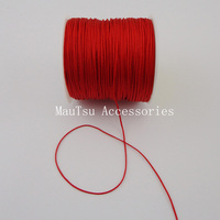 80Yards 0 6mm Hot Red Chinese Knot String Knit Cords Ropes Line Wire Threads Rattail Beading
