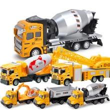лучшая цена Simulation RC engineering vehicle model suit for children backlash alloy die-casting toy for excavator bulldozer forklift truck