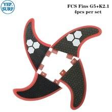 Surf FCS Fins Fibreglass Surfboard G5/K2.1 Quad Fin Surfing Quilhas FCS Honeycomb Fins цена и фото