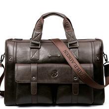 Мужской кожаный портфель, черная деловая сумка-мессенджер, винтажная сумка на плечо, большие дорожные сумки для ноутбука, 2019