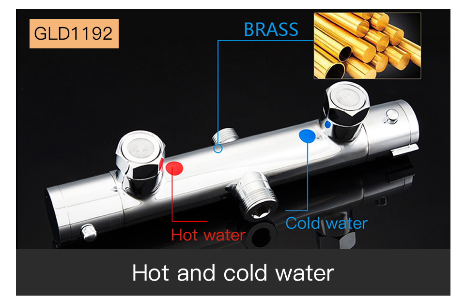 GAPPO thermostatic shower set rain shower set shower faucet hot and cold Shower faucet Bathtub thermostatic shower mixer