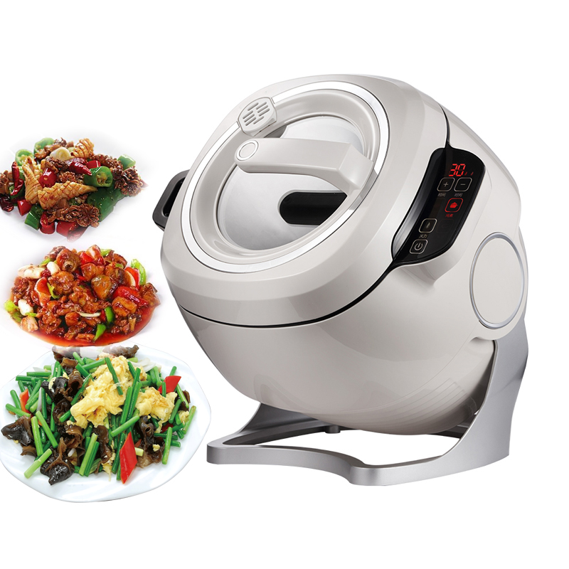 Intelligent Automatic Stir Frying Machine 6L Household Electric Cooking Wok Pot Non stick Multifunctional Cooker Pot