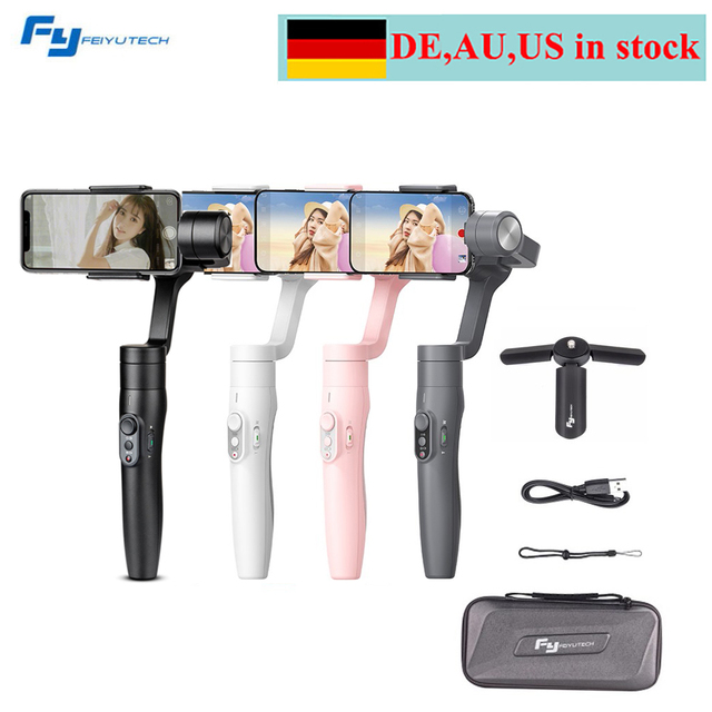 Feiyu Vimble 2 Selfie Stick Travel Gimbal Handheld Stabilizer for iPhone X 8 Plus 7 Samsung Galaxy S9 S8+ for XIAOMI Smartphone