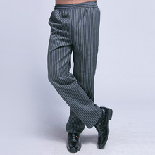 Chef Uniform Restaurant Pants Kitchen Pants Chef Trouser Chef Pants Elastic Waist Bottoms Food Service Mens Work Wear