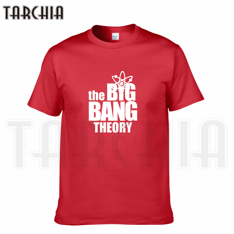TARCHIA 2018 summer tv brand Big Bang Theory men short sleeve boy casual t-shirt cotton tops tees homme tshirt t plus fashion