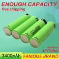 Golooloo 3400Mah 4Pcs/Lot 3.7V For Panasonic for Sanyo NCR18650B Rechargeable Battery 18650 Batteries Wholesale Safe