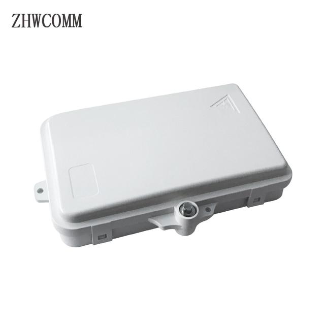 Zhwcomm Hoge Kwaliteit 4 Core Fiber Optic Terminal Box Ftth Box Glasvezel Verdeelkast Gratis Verzending