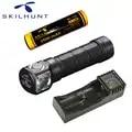 Skilhunt H03 Led mode Lampe Frontale Cree XML1200Lm Lampe de poche chasse pêche Camping Lampe de poche + bandeau + batterie + chargeur
