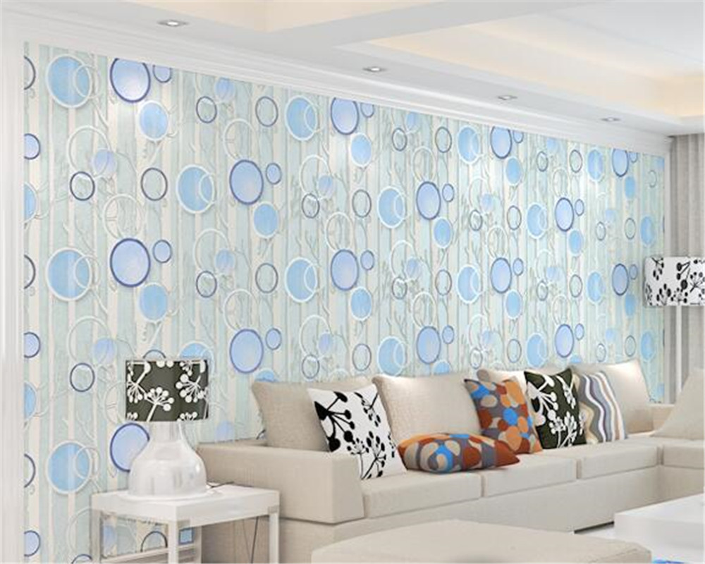 US $46.72 36% OFF|Beibehang hohe qualität Kreis Deerkin Samt 3D Tapete  Wohnzimmer Schlafzimmer 3D TV dekoration Tapete papel de parede behang-in  ...