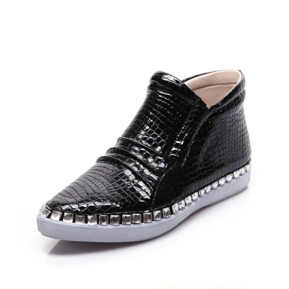 2015 casual zapatos populares pequeño dedo del pie acentuado las mujeres planas