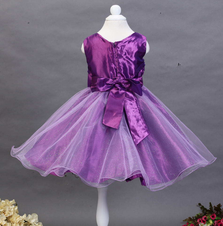 555ed4ec5cb 60 140CM Roses Sleeveless Vest Princess Dress Seven Candy Colors Wendding  Party Birthday Dress-in Dresses from Mother   Kids on Aliexpress.com