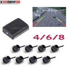 Koorinwoo парктроники автомобильные Датчики парковки 8/6/4 радары сигнализация детектор датчик RCA видео Системы Показать расстояние изображение помощь