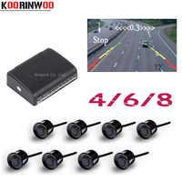 Koorinwoo 2019 Parktronics Auto parkplatz sensoren 8/6/4 Radargeräte Alarm Sonde detektor RCA Video System Zeigen Abstand bild Unterstützung