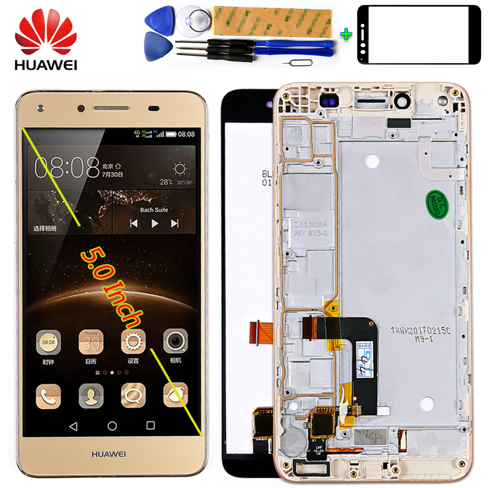 Huawei Digitizer Assembly-Frame Lcd-Display Touch-Screen Y6 With Free-Tool Compact-Lyo-L01