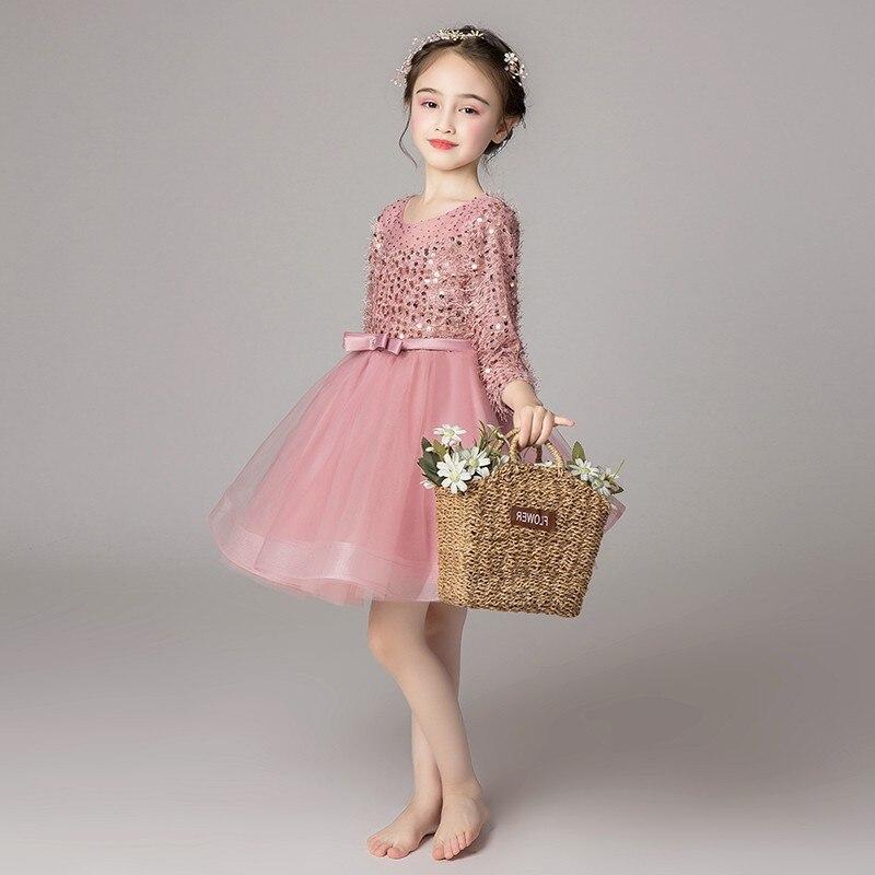 d5e1a9beb2a New girl long sleeved evening dress