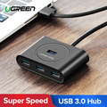 Ugreen HUB USB 3,0 externo 4 Port USB Splitter con puerto de alimentación Micro USB para iMac ordenador portátil accesorios HUB USB 3,0