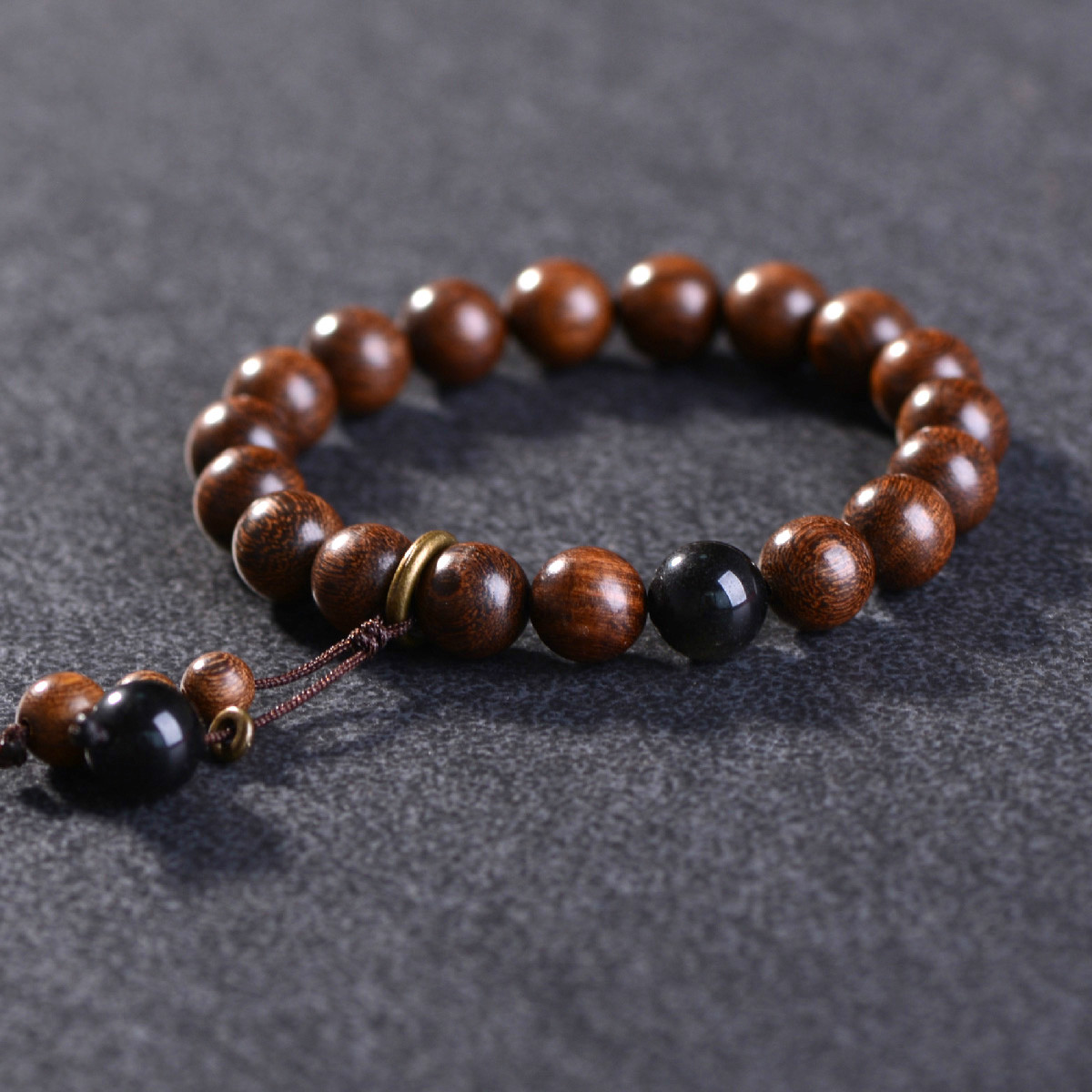 Wooden Beads Bracelet for Men Women 8mm Natural Buddha Wood Bracelets Beaded Strand Wrist Male Bracelet