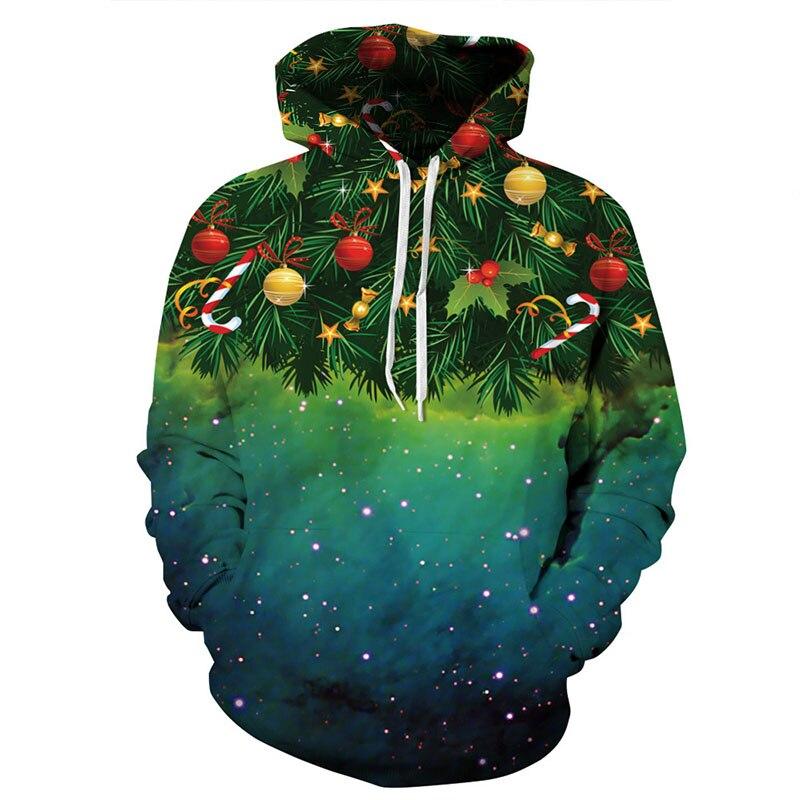 Christmas Style Men/Women 3d Sweatshirts Print Christmas Fruit Autumn Winter Thin Hooded Hoodies Unisex Pullovers