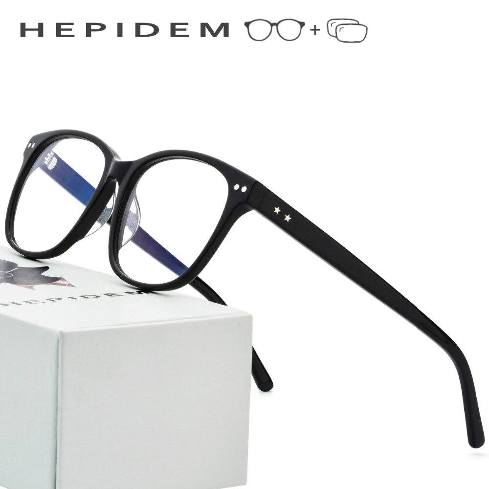 Acetate Optical Prescription Glasses Frame Men Fashion Spectacles Eyeglasses Women Brand Designer Oversized Myopia Full Eyewear bowtie decor blue black plastic full rim spectacles glasses eyeglasses frame