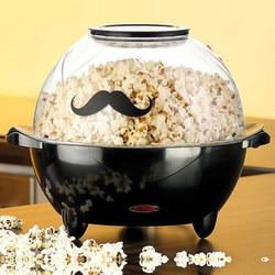 Plastic Material 4.5L Large Capacity Home Multi-function Popcorn Machine Uniform Heating Non-stick Pan Coating