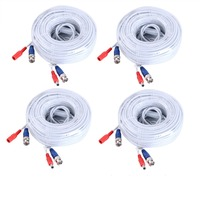 ANNKE 4PCS A Lot 30M 100 Feet BNC Video Power Cable For CCTV AHD Camera DVR