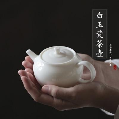 Théière en porcelaine blanche Dehua Pot filtrant blanc thé cérémonie maison bureau Kungfu Da Hong Pao Pure noir Teaware livraison gratuite