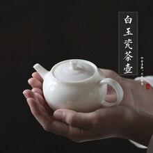 Белый фарфоровый чайник Dehua белый фильтр Чайник Чайная церемония домашний офис Kungfu Da Hong Pao чистый черный чай посуда Бесплатная доставка