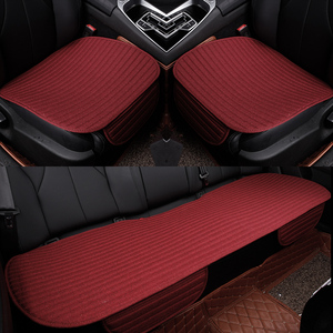 Image 5 - Car Seat Covers Universal car front Rear Seat Cushion Pad for Four Seasons use Auto Accessories Car styling car seat mat