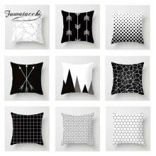 Fuwatacchi Geometric Cushion Cover Black White Dot  Soft Throw Pillow Decorative Sofa Case Pillowcase