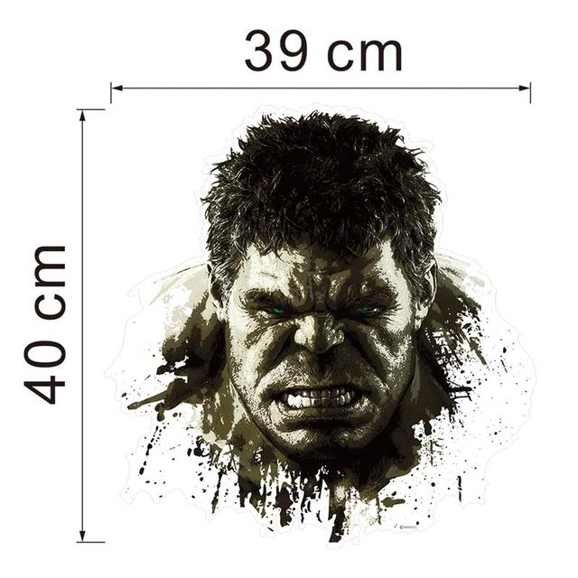 newest hero Hulk The Avengers home decor wall stickers for kids boys room decoration sticker handsome birthday christmas gifts