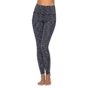 Image 4 - 2019 여성을위한 포켓과 높은 허리 스포츠 Legging 패션 새로운 여성 운동 스트레치 바지 플러스 크기 탄성 피트 니스 레깅스