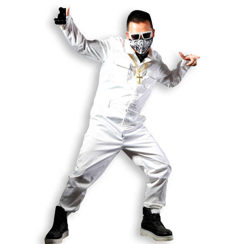 Мужские уличные модные комбинезоны с длинными рукавами в стиле хип-хоп мужские и женские Комбинезоны повседневные рабочие штаны-шаровары Штаны-шаровары