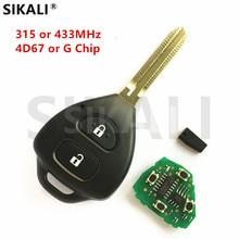 SIKALI Remote Key Keyless Entry for Toyota Camry Corolla Prado RAV4 Vios Hilux Yaris Car 315MHz