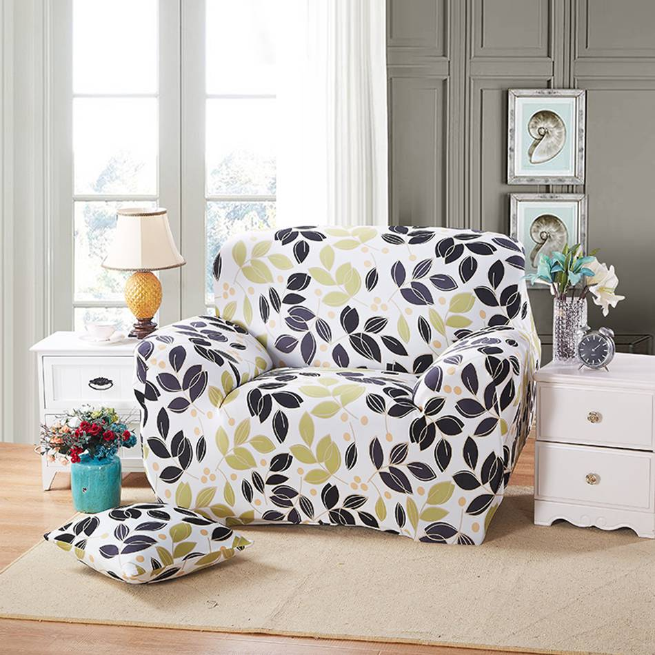 Print Flower Cover,polyester Sofa Cover ,sectional/single Slipcover L  Shaped Elastic Couch