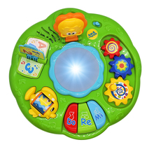TOT Kids  1082 Light Music Electronic Drum Learning Table Parent-Child Education Interactive Baby Toys Gifts