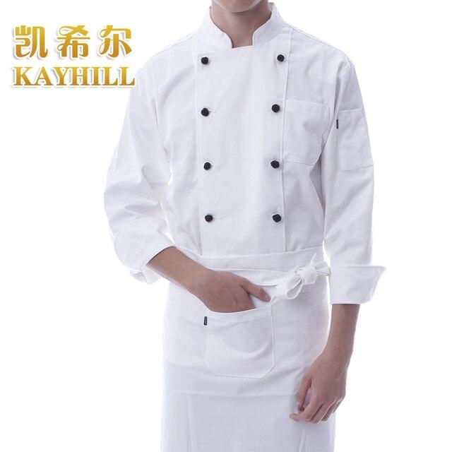 Aliexpress.com : Buy New long sleeve white work wear cook jacket ...
