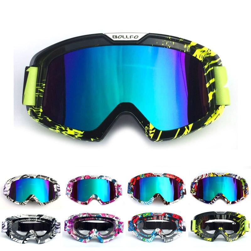 Neue Motorrad Brille Skifahren Skating Motocross Racing Snowboarden Brillen Schutz Winddicht Helm Brille