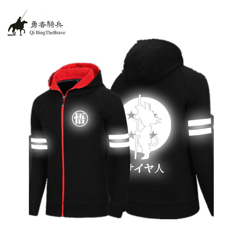 Dragon Ball Z Son Goku Reflective Hoodie Unisex Anime Halloween Hoody Sweatshirt hip hop ...