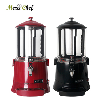 ITOP 10L Black Or Red Hot Chocolate Dispenser Machine Commercial Chocolate Coffee Coco MilkTea Dispenser Electric Heating System hot sale commercial mini kitchen appliance table counter top 5 liter chocolate melting machine for drink dispenser